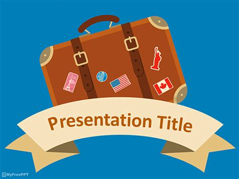 Free Travel Plan Powerpoint Templates Myfreeppt Com Travel Powerpoint Template