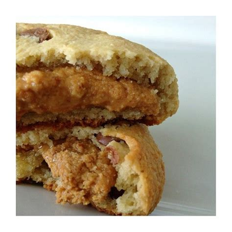 pinning on pinterest peanut butter fingers peanut butter stuffed chocolate chip cookies pb love