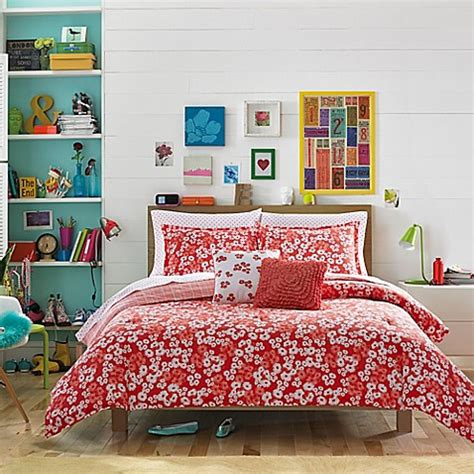 costal bedding teen vogue 174 daisies comforter set bed bath beyond