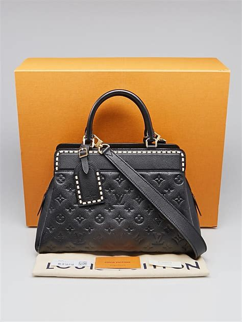 louis vuitton black monogram empreinte leather vosges mm