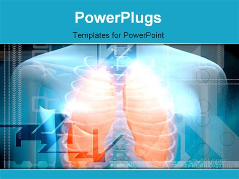 powerpoint themes lungs digital illustration of a human body and lungs in colour