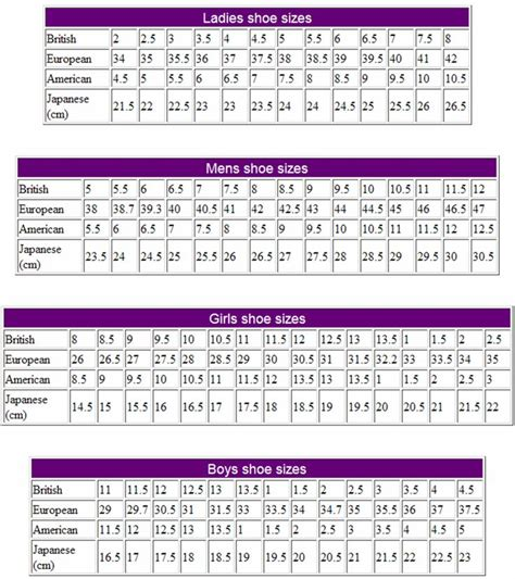 shoe size chart novo 17 best images about french final project on pinterest a
