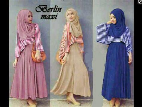 Dress Maxi M Fit L Karine Spandek Salur Stripe Diskon destiana shop