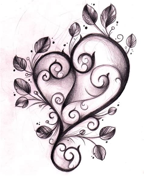 pretty heart tattoo designs beautiful design