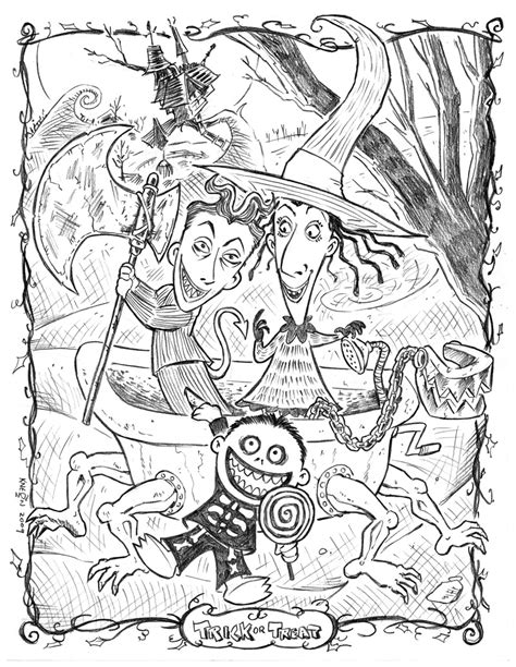 Lock Shock And Barrel By Kneont On Deviantart Nightmare Before Coloring Pages For Adults
