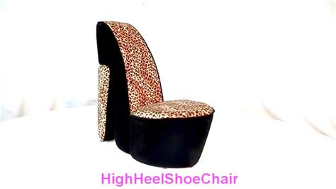 cheetah high heel chair child size leopard high heel shoe chair