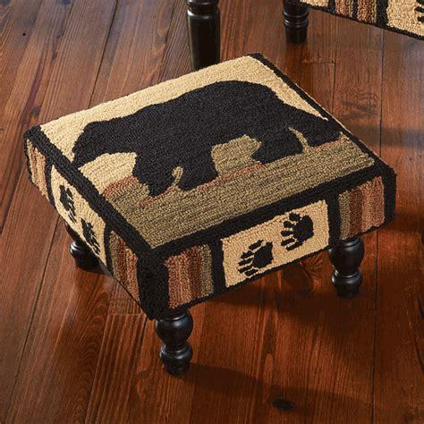 black bear ottoman black bear tracks footstool