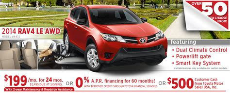 Toyota Special Offers New Toyota Rav4 Special Offers Wichita 2015 Purchase