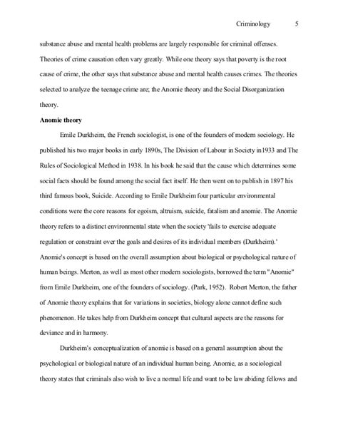 Criminology Theories Essay by Criminology Essay