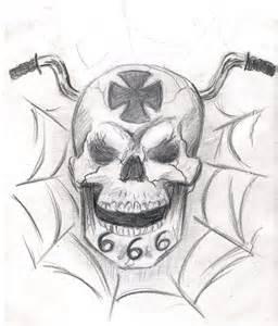 skull tattoo sketch by sandraleeshadows on deviantart