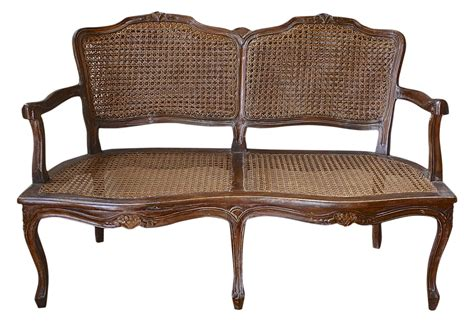 cane settee antique french double cane settee omero home