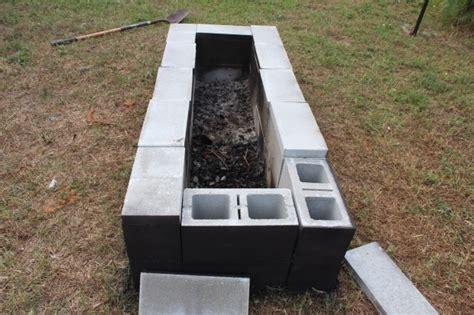 diy pit concrete block diy cinder block pit pit ideas