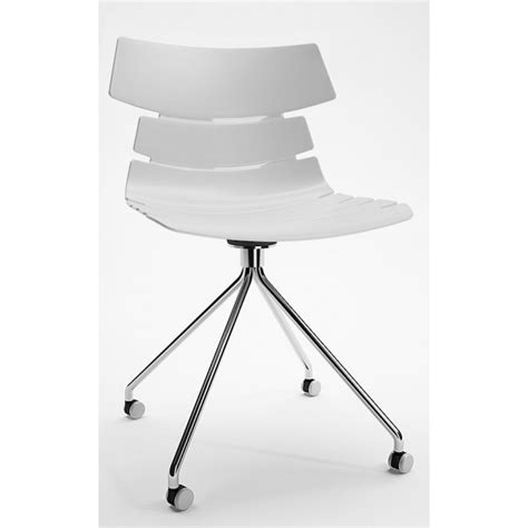Living Room Chairs On Wheels Lucrezia Polypropylene Chair Wheels Black Grey And White