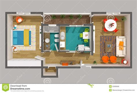 interior design 3d home project small apartment royalty