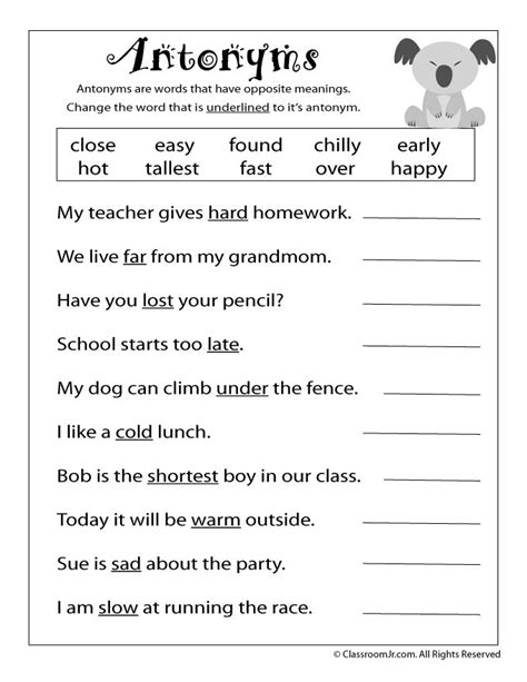Third Grade Grammar Worksheets by 25 Best Ideas About Reading Worksheets On