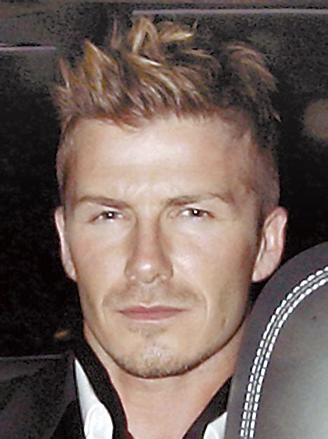 Beckhams New Hair Do by Fed Up With The New Hair Do Already Becks Daily Mail
