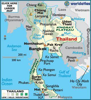 Atlas Lebgkap Global thailand map map of thailand worldatlas