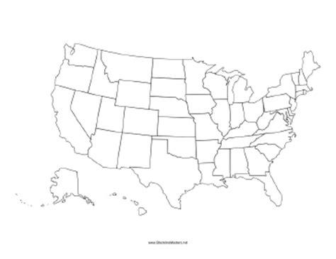 america map blackline master united states blackline map