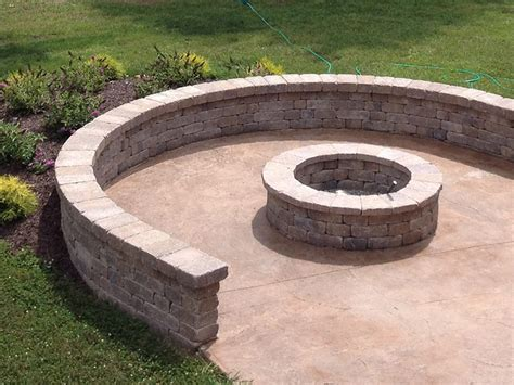 pit retaining wall custom pits and fireplaces in kansas city