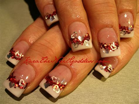 valentines acrylic nail designs on valentines