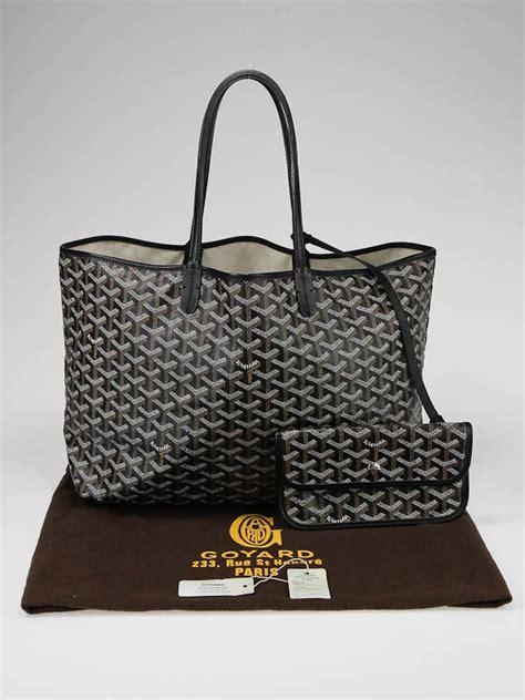 Goyard St Louis Tote Bag Pm Black goyard black coated canvas st louis pm tote bag yoogi s
