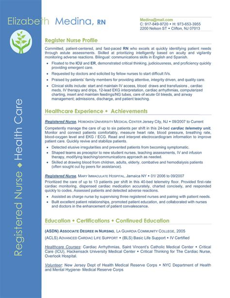 Resume Exles For Nurses 2015 Functional Resume Format For Nursing