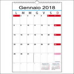 Calendario E Calendario 2018 Con 12 Mesi A Tabella Calendari It
