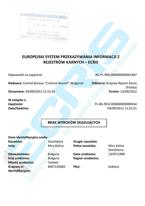 Criminal Record Check Ministry Of Justice Bc Bulgarian Criminal Record Check From The Central Office Of Criminal Records