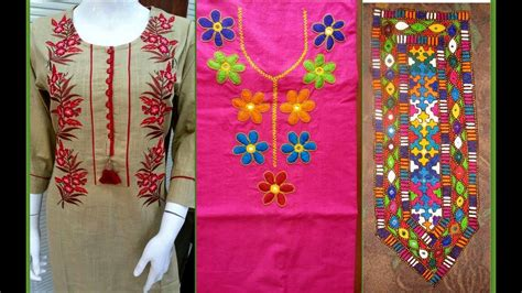 Handmade Embroidery Designs Suits - neck embroidery designs for suit kurti embroidery neck