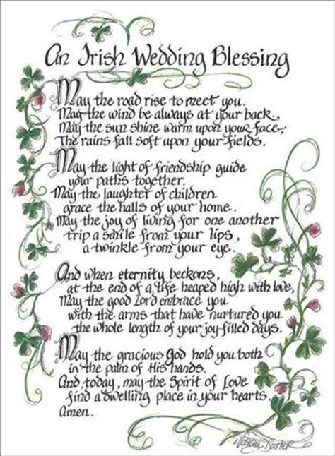 An Irish Wedding Blessing Plaque   Irish wedding blessing