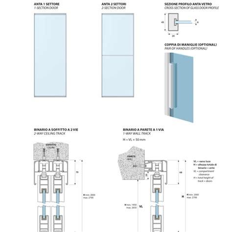 porta scorrevole su misura porta scorrevole a due ante in vetro satinato su misura
