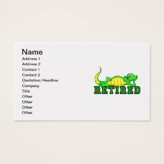 Retired Business Card Sayings