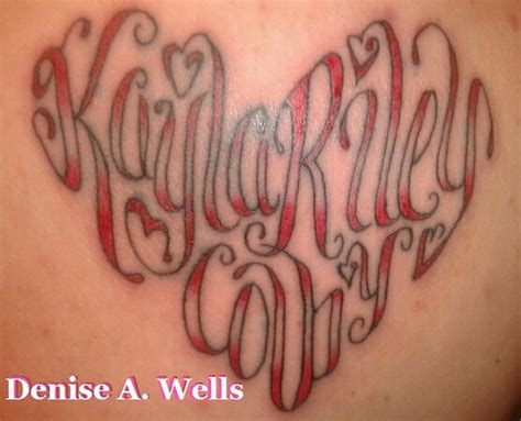 heart shaped tattoos name shape tattoos by a flickr photo