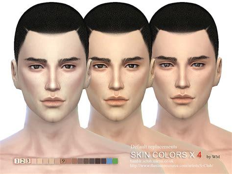 sims 4 cc skin colors s club wm ts4 skin cas colors x 4 default replacement