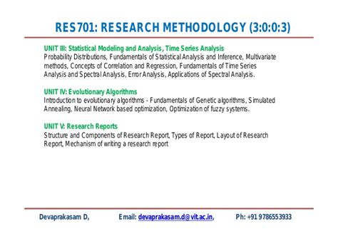 layout of report in research methodology res701 research methodology lecture1
