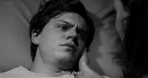 A Time Coming Evan gif american horror story evan peters black and white follow back gif