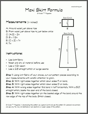 pattern making pdf how to make a maxi skirt