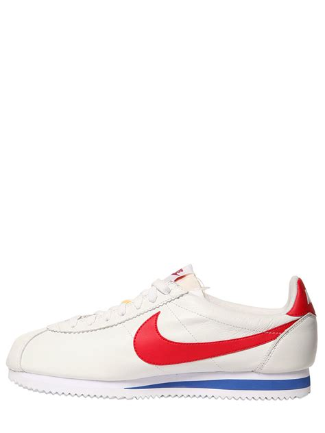 Sepatu Sneakers Nike Classic Cortez Leather nike cortez classic premium leather sneakers in white for lyst