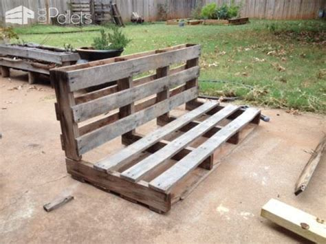 simple pallet bench easy diy tutorial build install one pallet swing bench