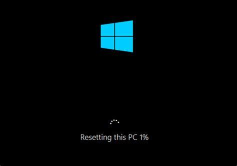 windows resetting pc stuck windows 10 factory reset password recovery