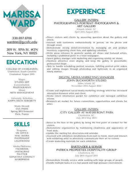 Ward Resume by Marissa Ward Resume