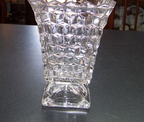 Fostoria Glass Vase by A Resale Fostoria American Clear Footed Vase