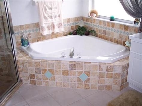 Garden Tub With Shower by Garden Tub Tile Pictures Travertine Glass Tile Garden Tub Master Bath Florida Tile