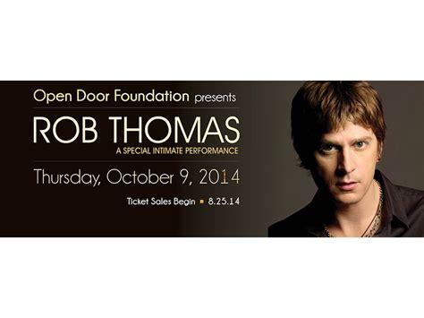intimate concert with rob to benefit open door