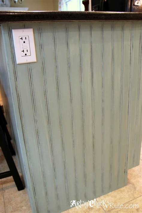 Kitchen Cabinets Repainted by Kitchen Island Makeover Duck Egg Blue Chalk Paint