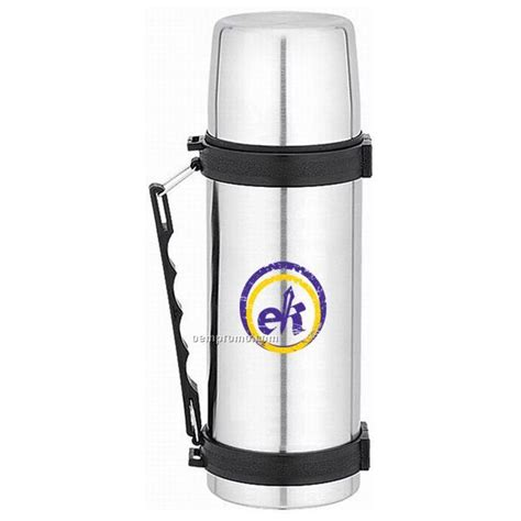 Promoo Push Button No Touch 17 oz stainless steel thermal bottle with push button