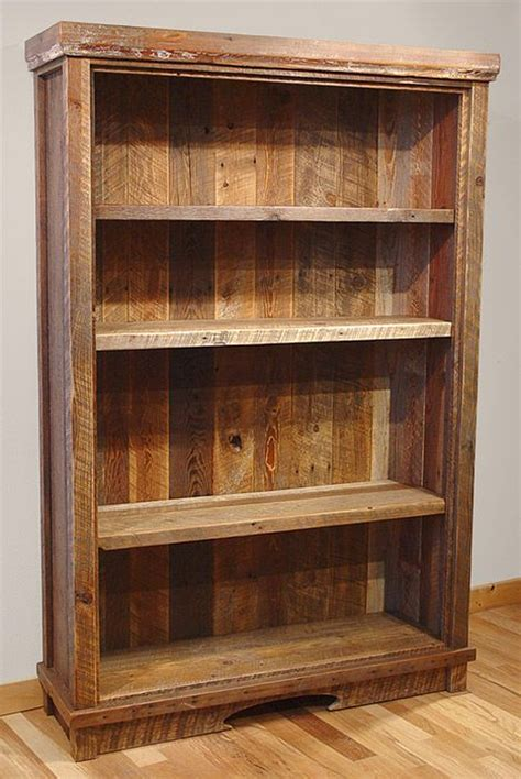 25 best ideas about reclaimed wood bookcase on