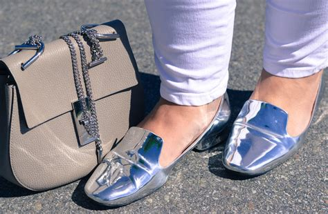 Trend White And Metallic by Silver Monday Zara Metallic Loafers March And May