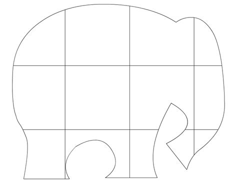 elephant template printable elephant outline printable search results calendar 2015