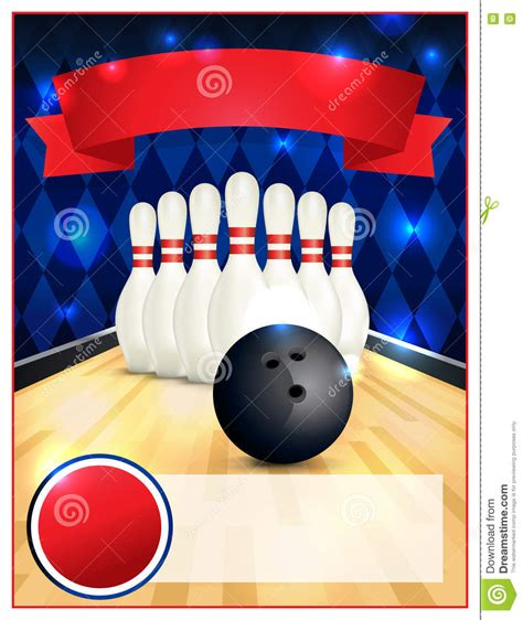 bowling flyers templates free blank bowling flyer template illustration stock vector